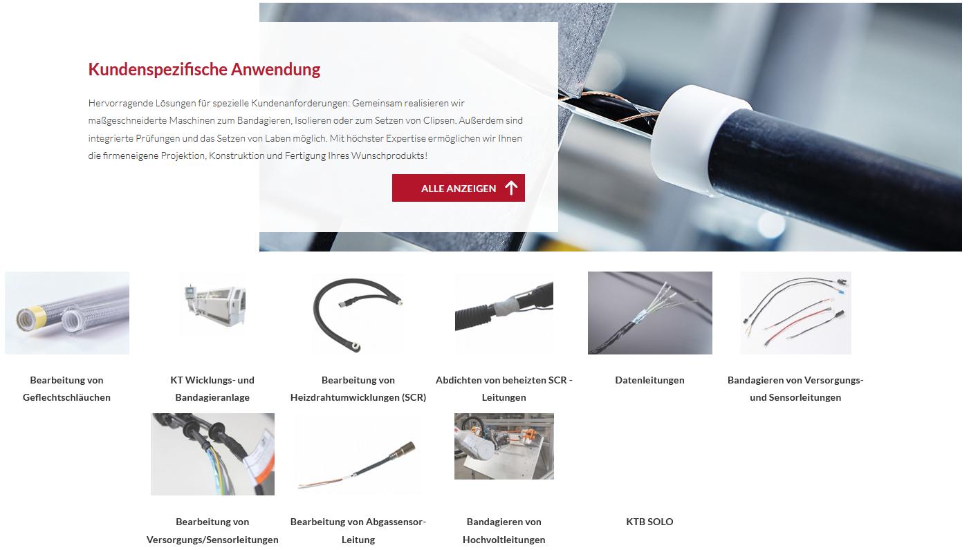Sondermaschinen werden ab sofort auf der Homepage präsentiert