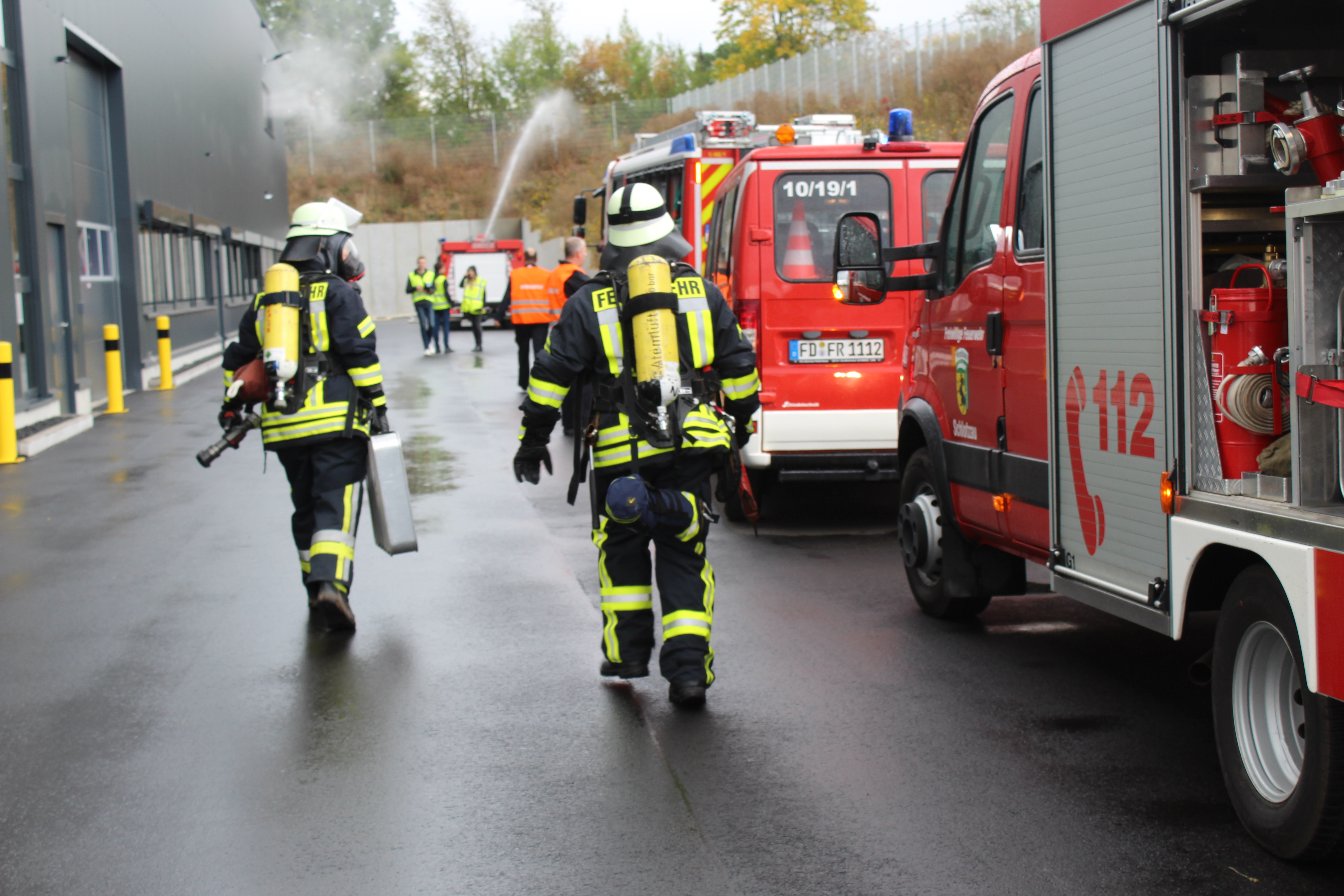 Feuerwehr trainiert für den Ernstfall