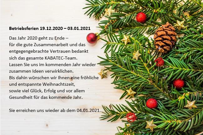 KABATEC wünscht Ihnen Frohe Weihnachten!