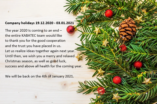 Merry Christmas from the entire KABATEC-Team!